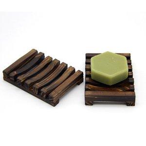 Wooden Soap Dishes Natural Bamboo Soap Tray Holder Moisture-proof Soaps Holder Storage Soap Rack Plate Portable Bathroom Rack Shelf YFA2061