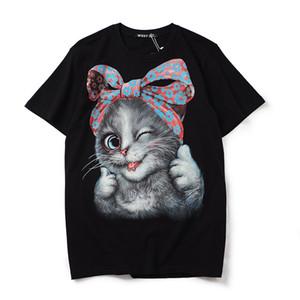 Men's shirt fashion men's designer cartoon shark print hoodie jacket men's ladies European and American tide brand naughty little gray cat