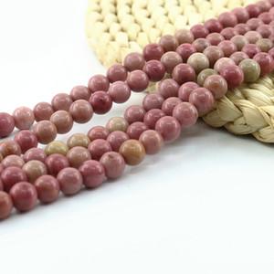 Rhodonite Bead Round Loose натуральный драгоценный камень бисер Производитель 15 дюймов в комплекте для изготовления ювелирных изделий