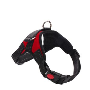 Oxford Dog Pet Harnesses Collar Leashes Large Medium Small Dog Harnesses Vest Explosion-proof 9 Colors HHA993