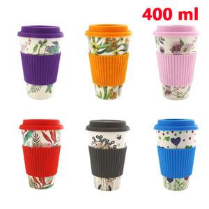 Novidade Bamboo Fiber Coffee Cups Drinking Milk Cup Natural fibra de bambu pó canecas presente Viagem Eco-friendly frete grátis AC1078