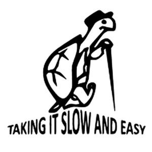 14,9 CM * 13,3 CM Langsam Und Einfach Vinyl Aufkleber Aufkleber Lustige Schildkröte Auto Aufkleber Auto Styling Cartoon Aufkleber Autozubehör CA1013