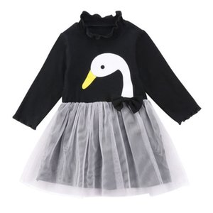 Hot Adorable Swan Baby Girls Lace Tutu Dress Party Pageant Princess Dresses Sweet Costume
