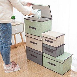 оптовые коробки с крышками без запаха полиэфирная ткань прозрачные корзины для хранения контейнеры бункеры с двойной крышкой органайзер