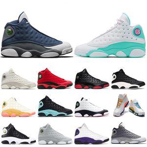 Nuovo Flint LUCKY VERDE 13s uomini scarpe da basket cappello e abito Chicago mens Altitude Phantom Bred donne formatori Sneakers Sport