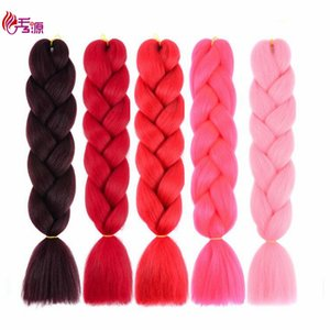 Jumbo Braid Hair Extension 24inch 100g pc Trenzado de la torsión del pelo del ganchillo sintético para mujeres negras Xiuyuanhair