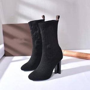 Nouvelle cheville Hlaf talon haut 10cm chaussettes en laine ressemblant à des chaussettes dames haute bottes Aftergame Quincunx taille de talon 35-40
