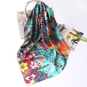 Nueva cebra de la selva tropical 90 sarga de seda de gran pañuelo cuadrado grande bufanda de seda cuadrada reina bufandas Pintura mujeres chal de las mujeres grandes
