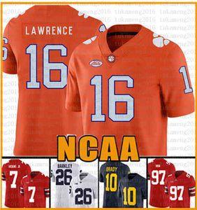 NCAA Clemson Tigers 16 Trevor Lawrence 9 Travis Etienne Jr. Tom Brady Jersey 97 Nick Bosa 7 Dwayne Haskins Jr Formalar 201-2020 yeni RCRTGS
