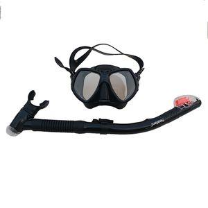 Snorkel Set Anti-Fog Snorkel maschera Impact vetro temperato gli occhiali di protezione di respirazione Tubo Anti-Leak Dry Top boccagli per adulti