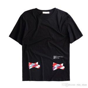 Лето Новый стиль от 18ss Белый Тайбэй Квалифицированный Красный Кордон JJ Lin Пары с коротким рукавом футболки