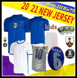 الرجال الاطفال 20 21 CRUZEIRO المنزل جيرسي لكرة القدم 19 20 البرازيل كروزيرو الأزرق الأبيض DE ARRASCAETA ROBINHO تياجو نيفيز 2020 لكرة القدم الخضراء