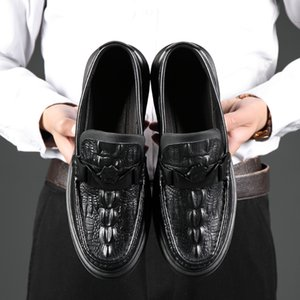 Business British Style Men's fashionable retro casual leather shoes