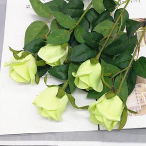 artificiale fiore decorazione fiore rosa singola matrimonio vive fiori secchi camera decorazione plastica fiore falso