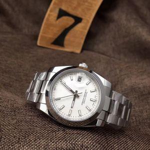 Gros marque de mode d'entreprise 36mm 40mm entièrement automatique mécanique 316L bracelet en acier inoxydable hardlex verre Watch