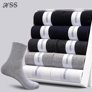 Männersocken aus Baumwolle Neue Arten 10 Paare / Los Schwarzen Geschäft Herren-Socken atmungsaktiv Herbst-Winter für Männer US-Größe (7,5-12)