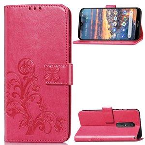 Adatto per Nokia 4.2 custodia per telefono in pelle PU morbida quadrifoglio anticaduta multi-funzione antigoccia anti-collisione