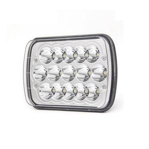 7x6 Retângulo LED Faróis de 45W Hi / Lo feixe w / DRL para Jeep Wrangler YJ Cherokee XJ caminhões 4x4 Offroad farol da recolocação
