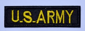 ABD Ordusu ABD ABD Taktik Askeri Kol Rozeti Moral Kot Ceket T-Shirt Demir on patch (Boyut: yaklaşık 3.3 * 1 inç)