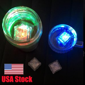 USA Stock Fast Ship CUBES ice light up Multicolor sensor liquid night lights for drinks Blinking Glowing fun decorative Party and event