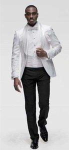 Toptan Yeni Ve Perakende Bir Düğme Groomsmen Şal Yaka Damat smokin Erkekler Düğün / Balo Sağdıç Blazer (ceket + pantolon + Kravat) Suits 78