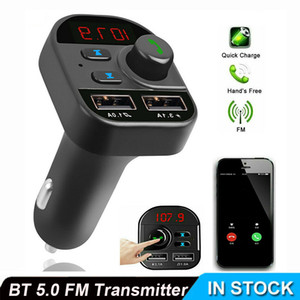 805E Car Bluetooth 5.0 FM Transmitter Handsfree Auto Kit MP3 Player USB Charger Car Charger Car Accessories Interior Auto Product