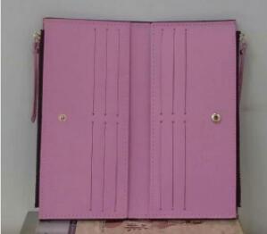 conception multicolore fond rouge dame gros portefeuille long-monnaie femme Porte-cartes fermetures à glissière double classique poche Vérifiez sacs rognées