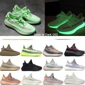 Sortie chaussures 35O V2 Kanye West New chaussures de course de couleur Hommes Femmes statique Clay Sesame véritable forme chaussures Hyperspace