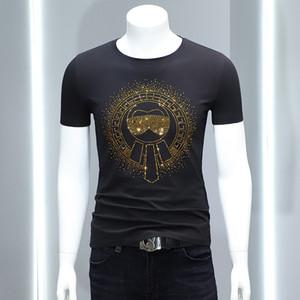 2020 Mode-Männer Shirts Schwarz Weiß beiläufige Klage kühler Applique 2020-Sommer-T-Shirt ICE Contton Under asiatische Größe M-4XL