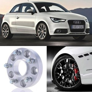 2pcs 25mm Thick PCD 5x100 57.1CB Aluminum Wheel Spacers Adapters For Audi A1