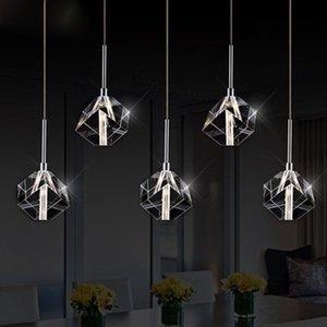 LED kristal asılı lamba dekorasyon restoran lambaları bar yemek odası lamba gölge yaratıcı kişilik basit post-modern lamba