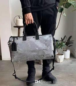 2020 컬러 캔버스 핸드백 당신은 남자와 여자의 연인 싱글 숄더 백 더플 손화물 여행 가방 명품 여성 핸드백을 양면