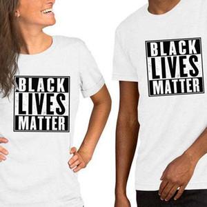 20 Farben-Männer-T-Shirts BLACK LEBT MATTER Letters Druck lose Männlich Weiblich T-Shirt Baumwolle Kurzarm-beiläufige Kleidung