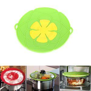 Kitchen Anti Overflow Pot Cover Silicone Pot Boil Anti Spill Lid Kitchen Cookware Oven Safe Pot Pan Petal Spill Stopper Lids DHB898