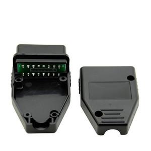 Venta al por mayor 10 unids / lote J1962 coche OBD2 16Pin conector macho OBD Plug adaptador de cableado herramienta de diagnóstico