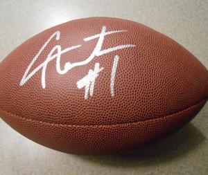 Kapı Futbol topu dışarı Cam Newton İmzalı Signed signatured ABD Amerika rugby Milli Futbol Lig spor kapalı /