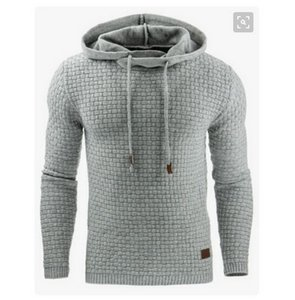 2019 hot new gym men's jacquard striped bathroom long-sleeved Hoodie warm-colored Hoodie sweater fashion trend youth simple pure color