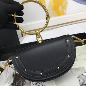 Bolsa de hombro bolsa de pulsera de Crossbody del bolso de cuero genuino Hardware Accesorios compras libres Llanura alta calidad bolsas de las mujeres