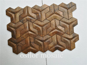 ccopper mosaic tile metal mosaic tile for house decoration vintage style MM126 wall tile