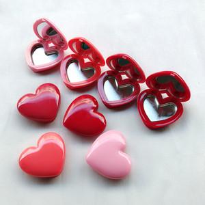 Rouge à lèvres 1.5g Mini distributeur de fard à paupières récipient 4 couleurs Option en forme de coeur boîte cosmétique avec miroir intérieur et plaque en aluminium