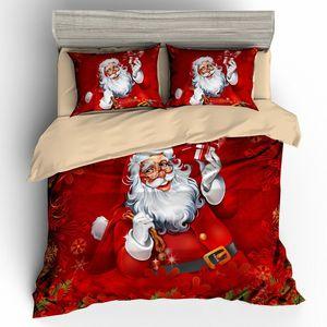 Christmas 3d bedding sets comforter duvet cover set bedsheet Pillowcase queen king size Bedlinen 3pcs