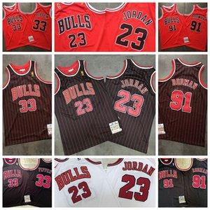 ChicagoBullsMen 23 Michael NCAA Scottie 33 Pippen Jersey Dennis 91 Rodman Jersey College Basketball Jerseys MJ 1996 Bull Jersey