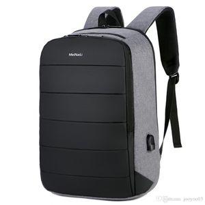 مكافحة سرقة تصميم USB ميناء الشحن كمبيوتر محمول على ظهره قدرة عالية للماء تنفس في الهواء الطلق حقيبة السفر حقيبة مدرسية متعددة الوظائف