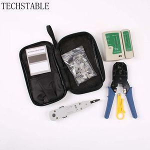 الشبكة Kable Tester RJ45 Kit Crimping شبكة حاسوب الصيانة أداة عدة Cable Tester Cross / Flat