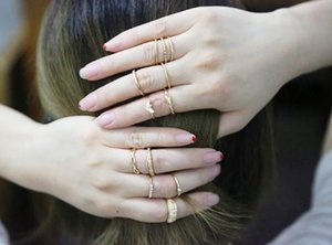 Hot Fashion Jewelry Vintage Gold Ring Set Combine Joint Ring Band Ring Toes Rings 12pcs set S348