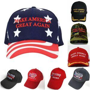Новые США Гонка за президентом Cap Make America Great снова Hat Donald Trump 2020 Республиканский регулируемый Red Cap OWC42