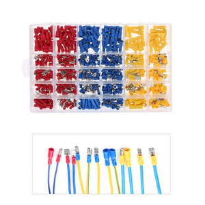 Freeshipping 480Pcs Assorted Full Insulated Fork U-Type Set Terminals Connectors Assortment Kit Electrical Crimp Spade Ring Multi-Func