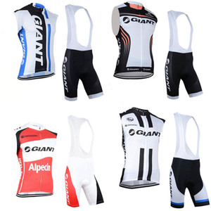 Giant Team Cycling Sans manches Jersey Gilet (BiB) Shorts Ensembles Gilets sans manches + (BIB) COURTS SUITS Taille: XXS-5XL C2812