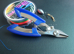 Brand New Outdoor Fisherman Stainless Steel Scissors Line Cutter Remove Hook Fishing Tackle Tool with Nylon bag PE14