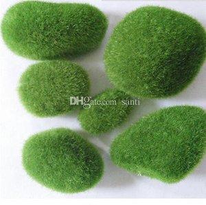 5шт набор Fairy Garden Mini Foam Flocking Stone Craft Moss Дом Домашнее украшение Бонсай сочными гномы Micro Пейзаж